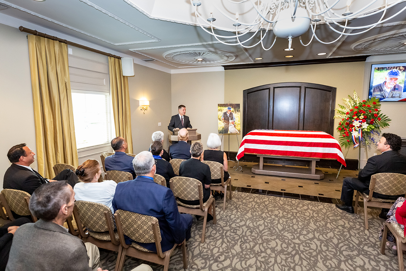 Service / Celebration of Life in our Location or Church (with a Casket)
